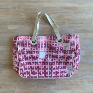 Givenchy Pink and White Tote Bag Purse